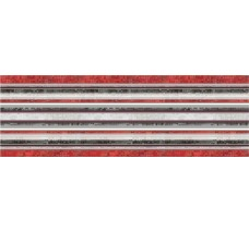 Декор (25x75) DECOR LINES ROJO